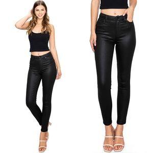 NWT Kendall & Kylie High Waist Coated Skinny Jeans